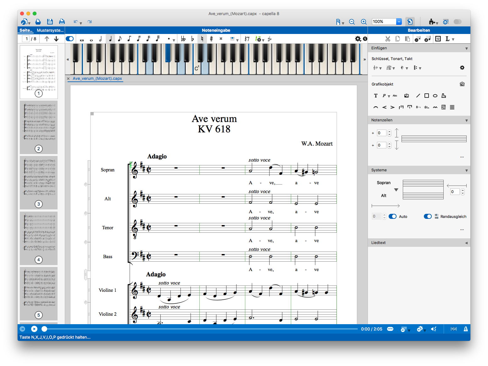 capella notenprogramm