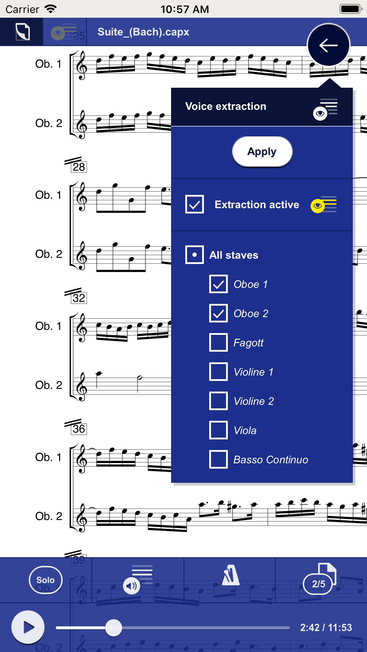 Info capella score reader App - capella-software AG (English)