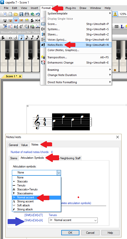 Articulation signs - capella-software AG (English)